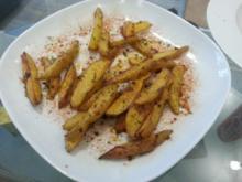~ Knusprige Potato Wedges - Kartoffelspalten ~ - Rezept