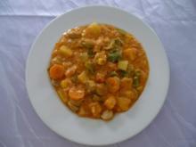 Pfannengericht - Leicht scharfe Gemüsepfanne mit Feuer-Grillern - Rezept