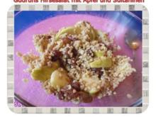 Salat: Hirsesalat mit Apfel und Sultaninen - Rezept