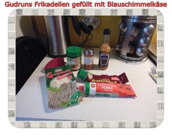 Hackfleisch: Gefüllte Frikadellen mit Blauschimmelkäse und Tomaten-Gorgonzolasoße - Rezept - Bild Nr. 12