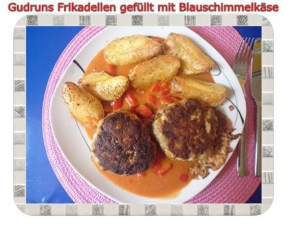 Hackfleisch: Gefüllte Frikadellen mit Blauschimmelkäse und Tomaten-Gorgonzolasoße - Rezept - Bild Nr. 19