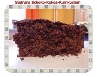 Kuchen: Schoko-Kokos-Rumkuchen - Rezept