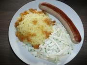 Kohlrabi an Bratwurst und Kartoffelschnee ! - Rezept