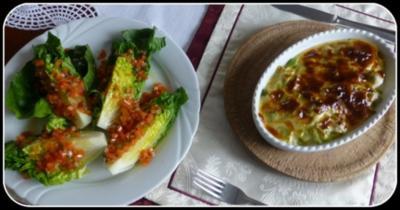 Gratin von Edelfischen mit Lauch und Minz-Hollandaise - Rezept