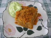 Vollkorn - Lasagne mit püriertem Gemüse - Rezept