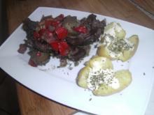 geschmorte - in Rotwein marinierte - Rinderbeinscheibe - Rezept