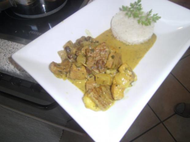 Kalb-Schweine-Curry süss-sauer - Rezept