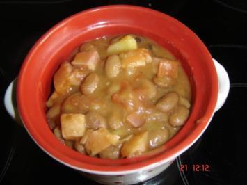 Rezept: Wachtelbohnensuppe mit Kassler
