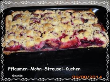 Pflaumen-Mohn-Streusel-Kuchen - Rezept