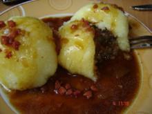 Gefüllte Kartoffelklöße mit Baconsauce - Rezept