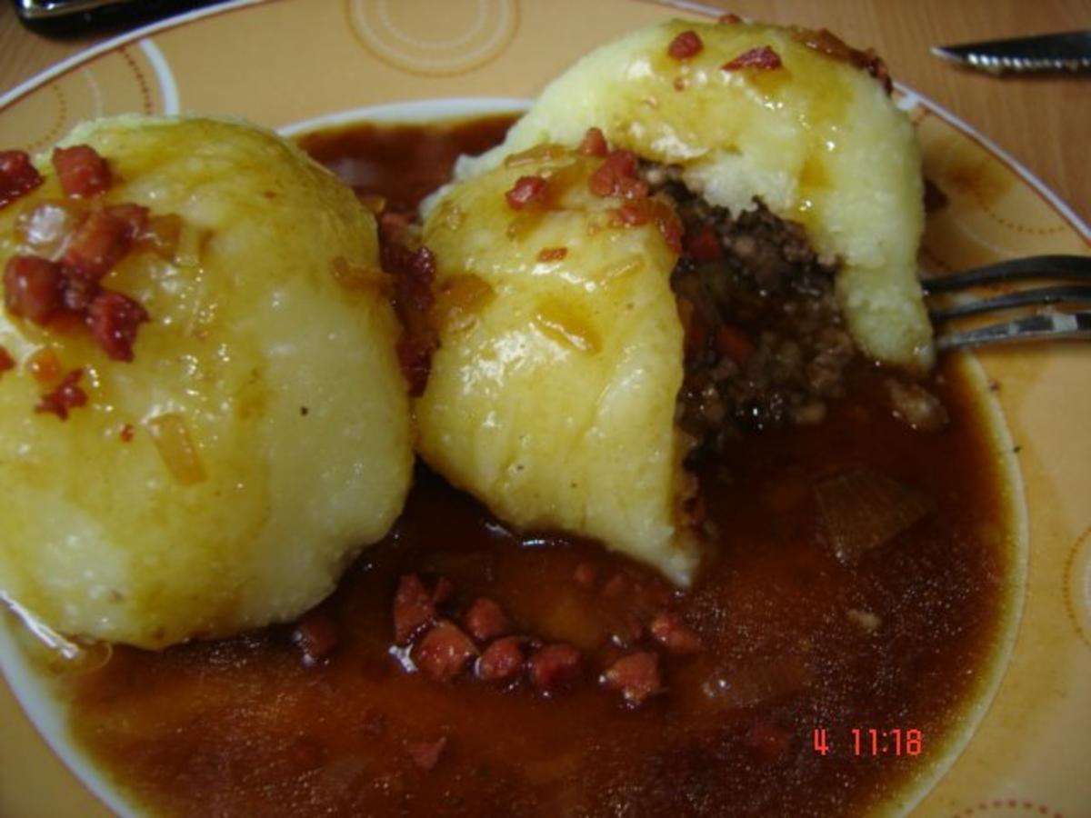 Bilder für Gefüllte Kartoffelklöße mit Baconsauce - Rezept