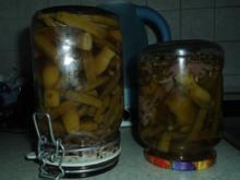 Grüne Bohnen mit Zwiebeln süß-sauer - Rezept