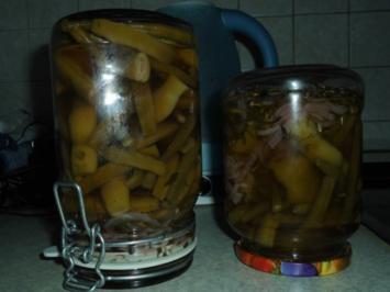 Rezept: Grüne Bohnen mit Zwiebeln süß-sauer