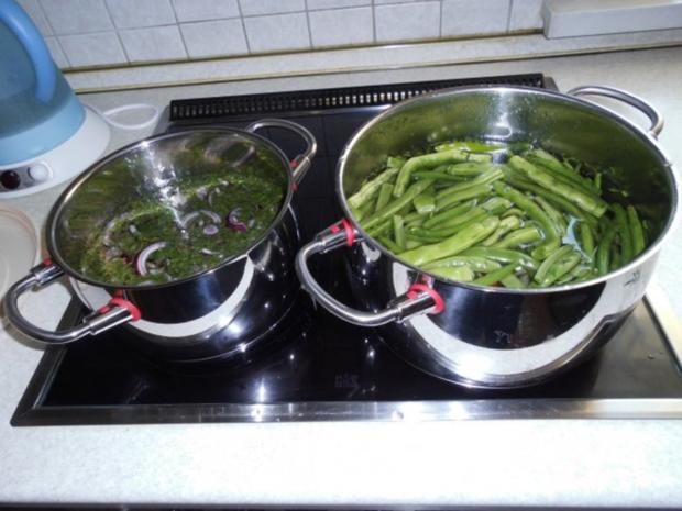 Grüne Bohnen mit Zwiebeln süß-sauer - Rezept - Bild Nr. 6