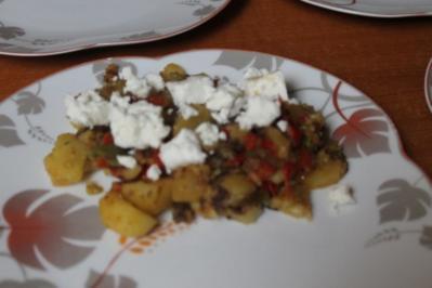 Rezept: Bratkartoffeln griechische Art