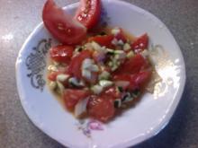 Tomatensalat mit Zucchini - Rezept