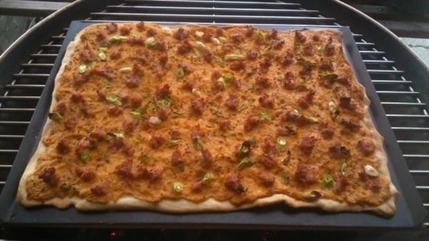 Sauerkraut-Kartoffel- Flammkuchen vom Grill oder Ofen! - Rezept