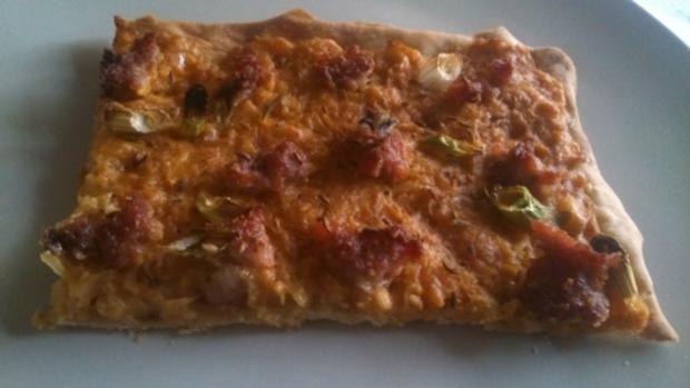 Sauerkraut-Kartoffel- Flammkuchen vom Grill oder Ofen! - Rezept - Bild Nr. 4