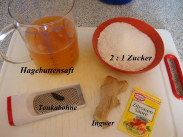 Hagebutten-Orangengelee mit Tonkabohne und Ingwer gepimmt - Rezept - Bild Nr. 7