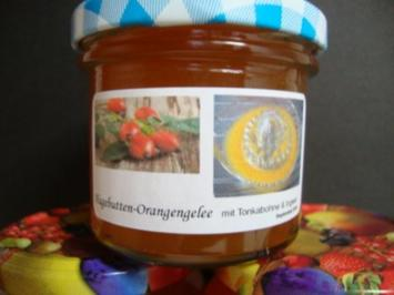 Hagebutten-Orangengelee mit Tonkabohne und Ingwer gepimmt - Rezept