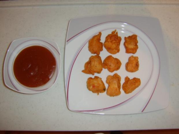 Chicken Nuggets mit süßsauren Dip - Rezept