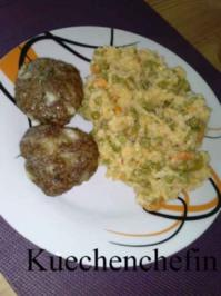 Kräuterfrikadellen mit Gemüserisotto - Rezept