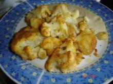 panierter Blumenkohl mit Käsesoße - Rezept