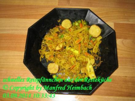 Gemüse – schnelles Reispfännchen aus der Resteküche - Rezept