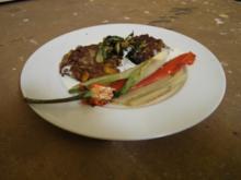 Alblinsenbratlinge mit gegrilltem Gemüse - Rezept