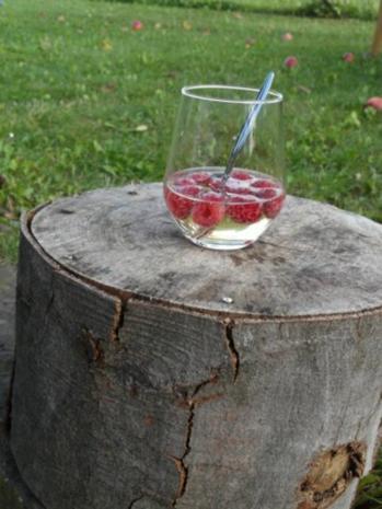 Sommerbowle mit Himbeeren - Rezept