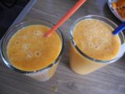 Smoothie : Eiskalter Karotten - Mandarinen Smoothie - Rezept