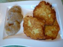 Kartoffelpuffer mit Apfelbrei - Rezept