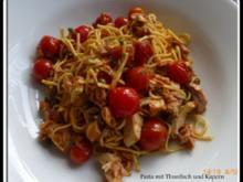 Pasta mit Thunfisch und Kapern - Rezept