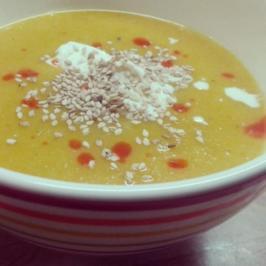 Möhren-Ingwer-Orangen-Suppe - Rezept