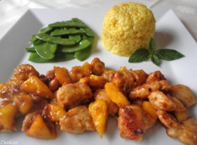 Ingwer - Hähnchen mit Mango ... - Rezept