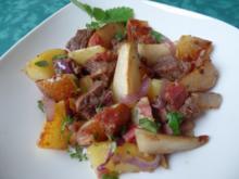 Filet-Kartoffeln-Birnen -Pfanne - Rezept