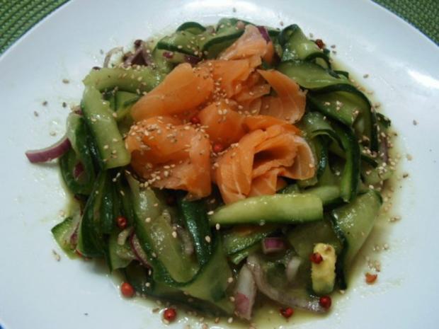 Gurkensalat mit dem asiatischen Pfiff - Rezept