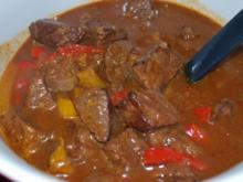 Gulasch mit Paprika - Rezept