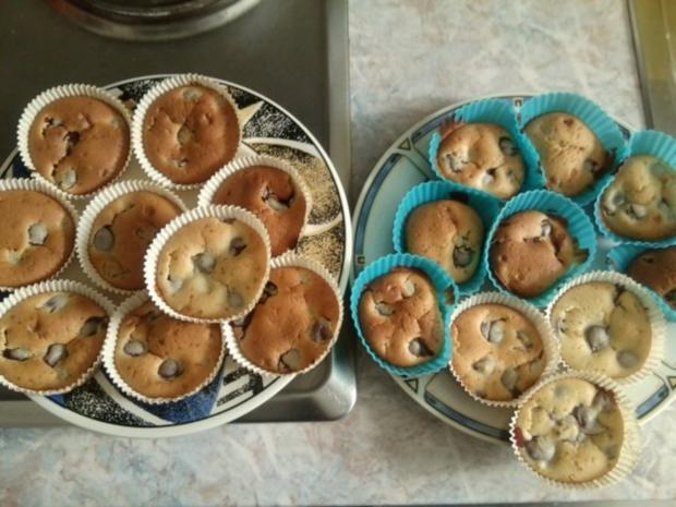 leichte Muffins mit verschiedenen Früchten  - Rezept