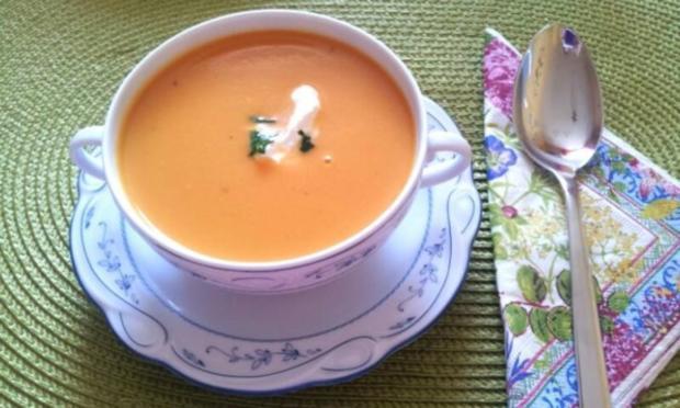Süßkartoffel-Cremesuppe - Rezept