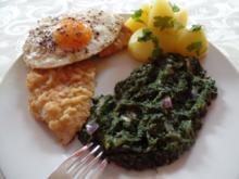 Schnitzel  Holsteiner-Art mit Rahmspinat - Rezept
