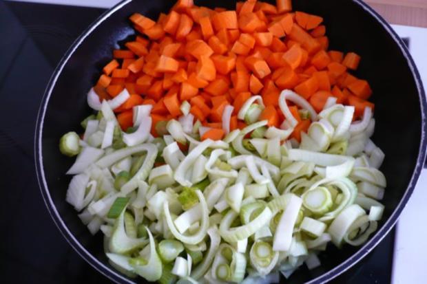 Lachs auf Möhren - Fenchel - Orangen -Gemüse - Rezept - Bild Nr. 3