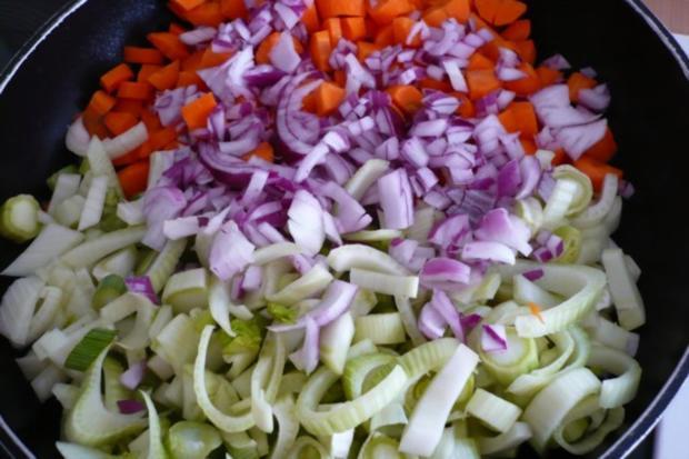 Lachs auf Möhren - Fenchel - Orangen -Gemüse - Rezept - Bild Nr. 5