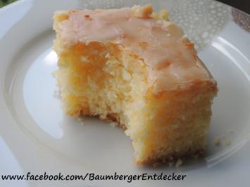 Rezept: Zitronen Blechkuchen