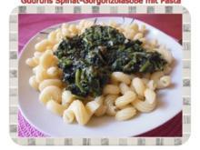 Vegetarisch: Spinat-Gorgonzolasoße mit Pasta - Rezept