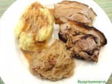 Fleisch:   SCHWEINSHAXE, geschmort - Rezept