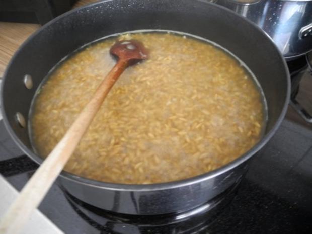 Schmorgurken an Kokosmilch mit Zuckerschoten dazu Kamut und Mandel - Tofu - Rezept - Bild Nr. 15