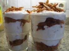 Dessert: Apfelküchle-Mandelquark - Rezept