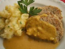 Fisch: Fischknödel mit Petersilienpüree und Cafe-de-Paris-Soße - Rezept