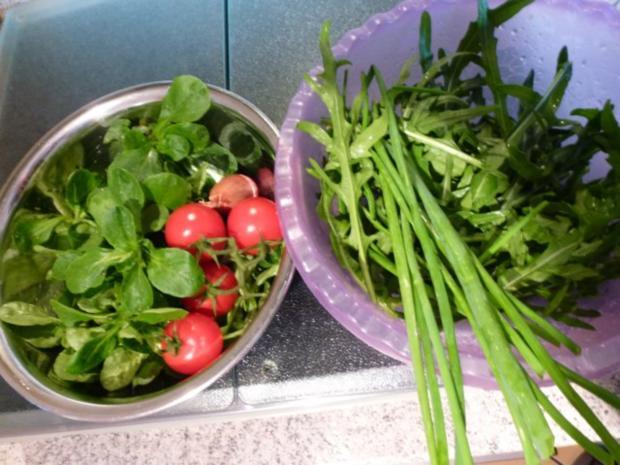 Frischer Salat-Mix aus dem Garten - Rezept - Bild Nr. 4